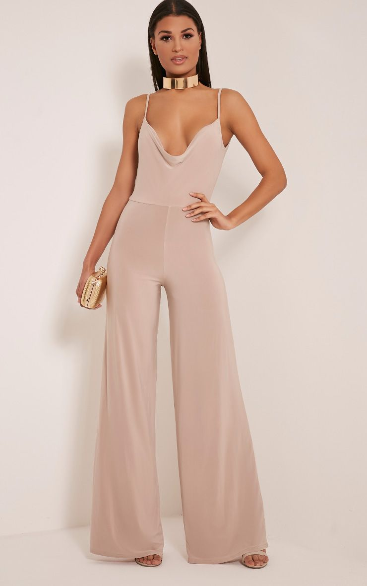 Lidiah Stone Cowl Front Scoop Back Jumpsuit