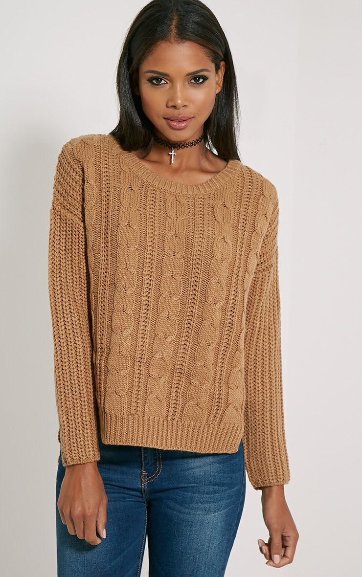 Jada Camel Knitted Jumper 1