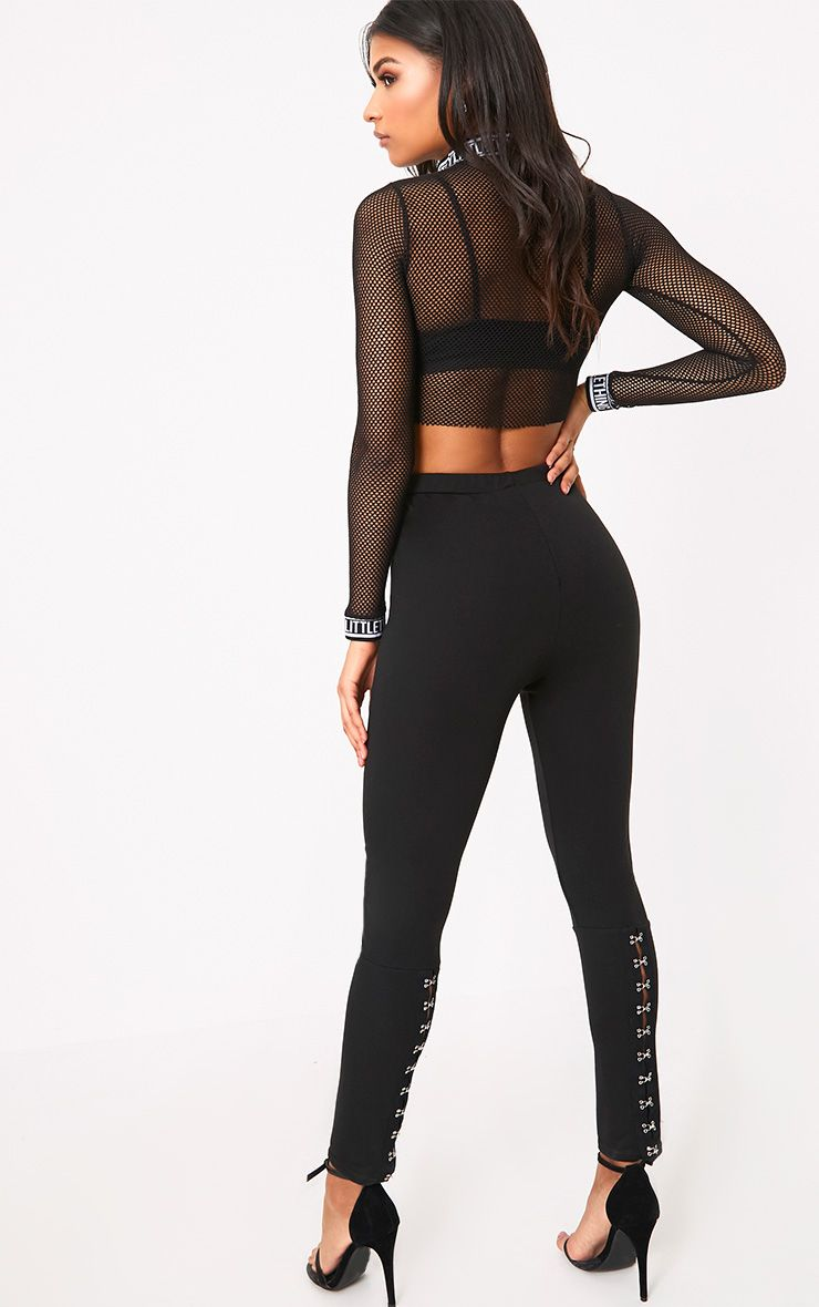 Carinda Black Back Hook & Eye Skinny Trousers