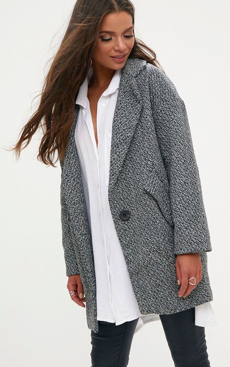 Grey Harringbone Coat