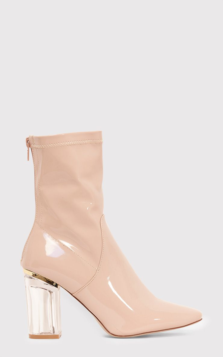 Killah Nude Clear Heel Boots