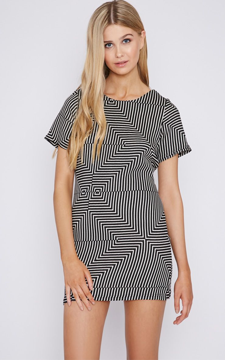 Philo Monochrome Print Shift Dress 1