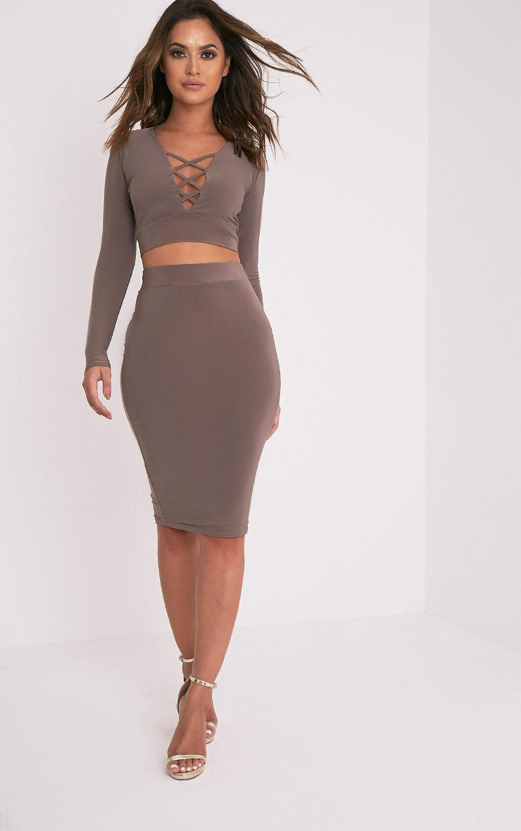 Malin Mocha Midi Skirt