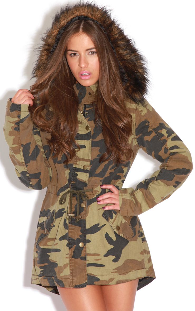 Nicola Camouflage Parka Coat 1