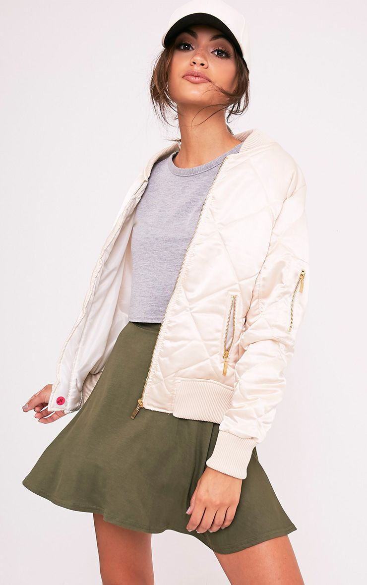 Basic Khaki Skater Skirt