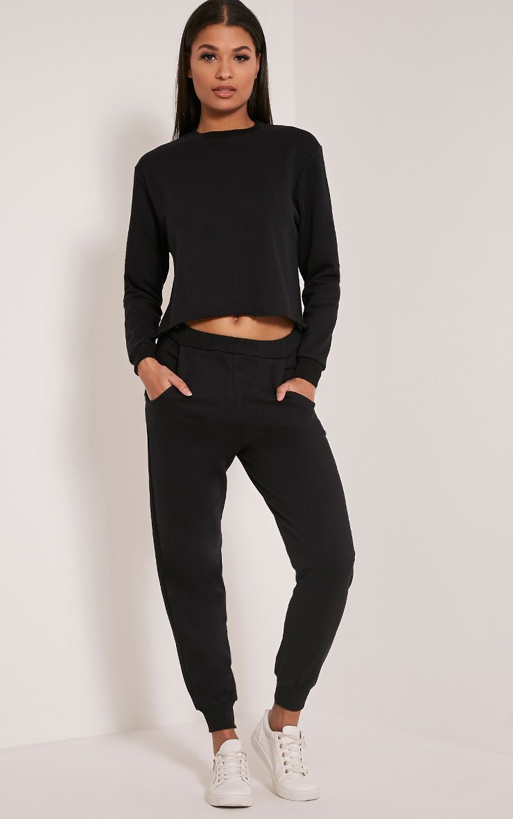Ellia Black Basic Joggers