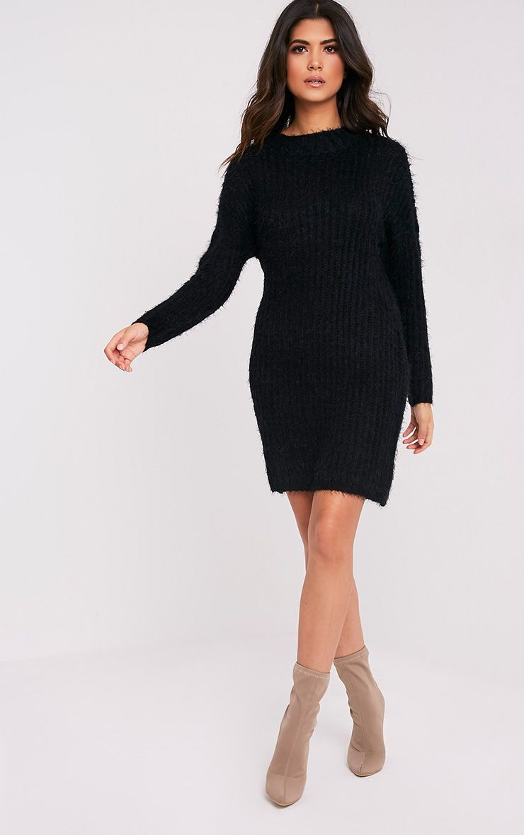 Gordania robe pull surdimensionnée noire en mohair 5