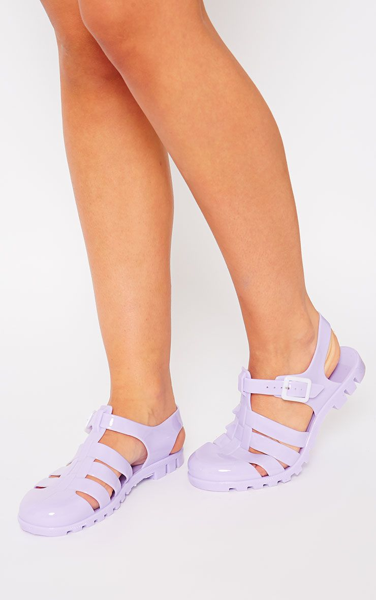Raida Lilac Flat Jelly Sandals 1