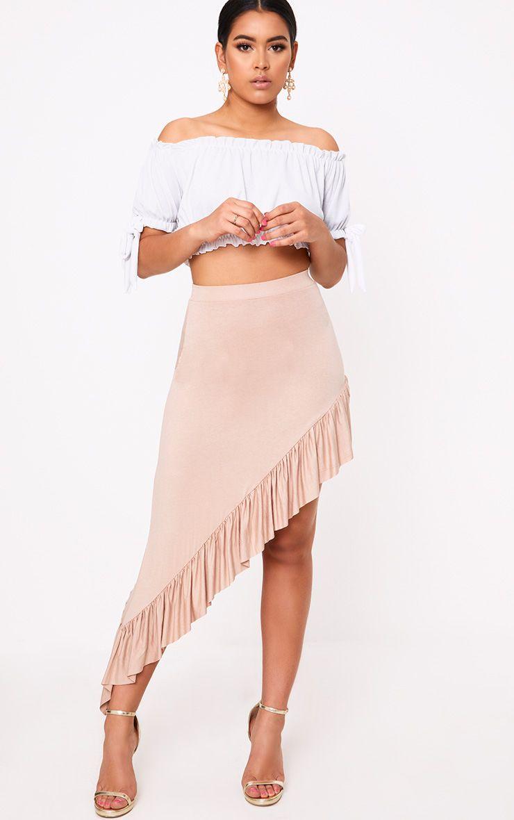 Stone Hi Lo Fill Hem Maxi Skirt