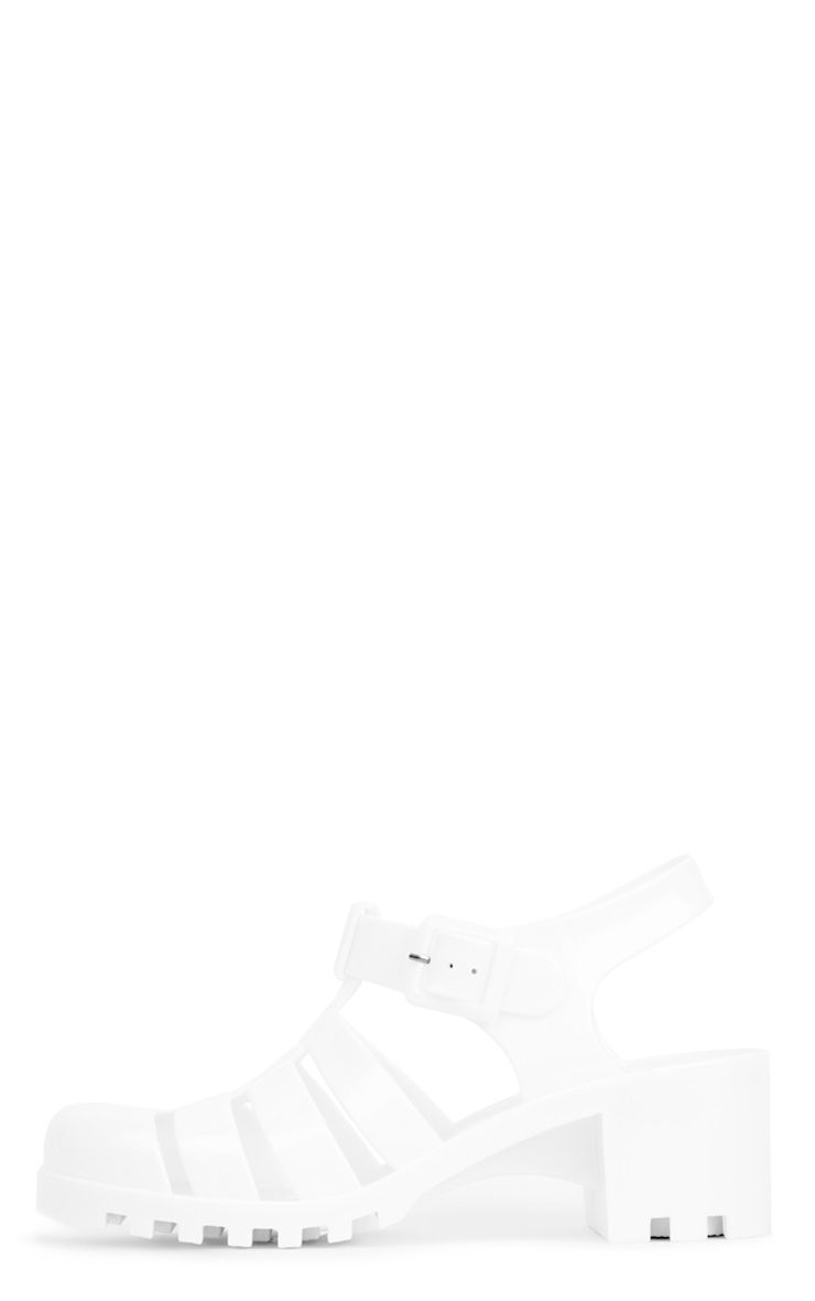 Kassidy White Jelly Shoes With Cleated Sole 1