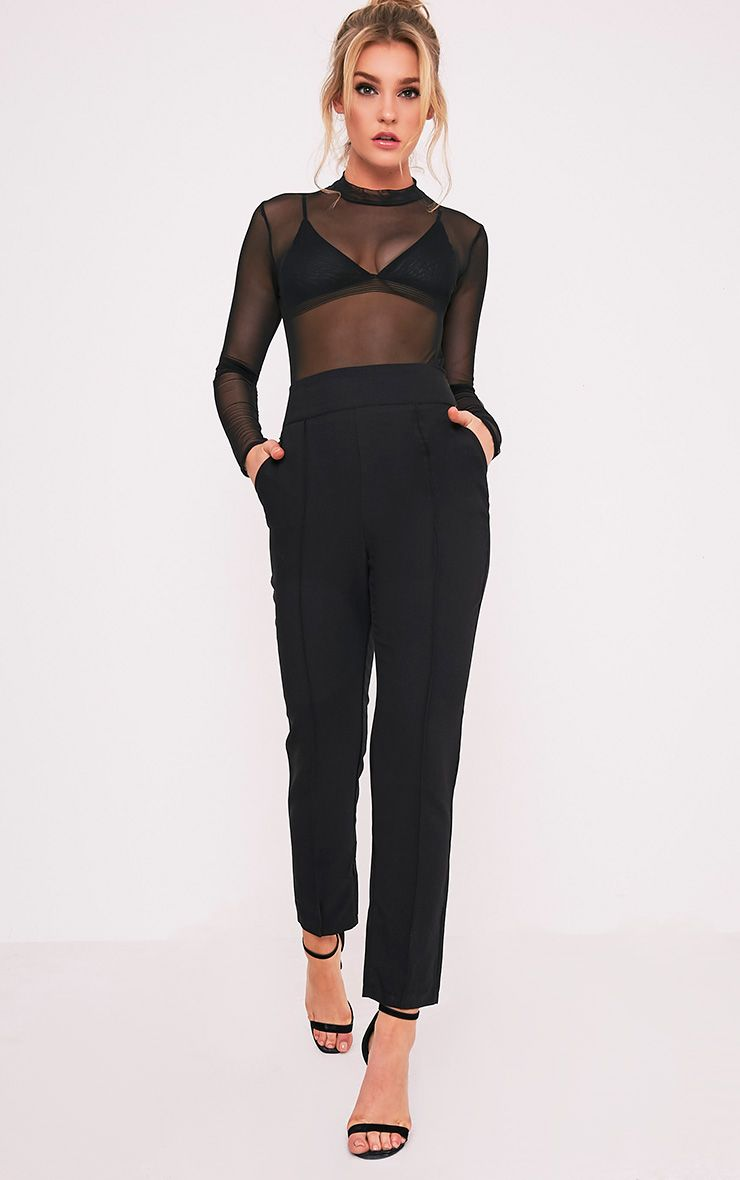 Wendy Black Front Seam Trousers