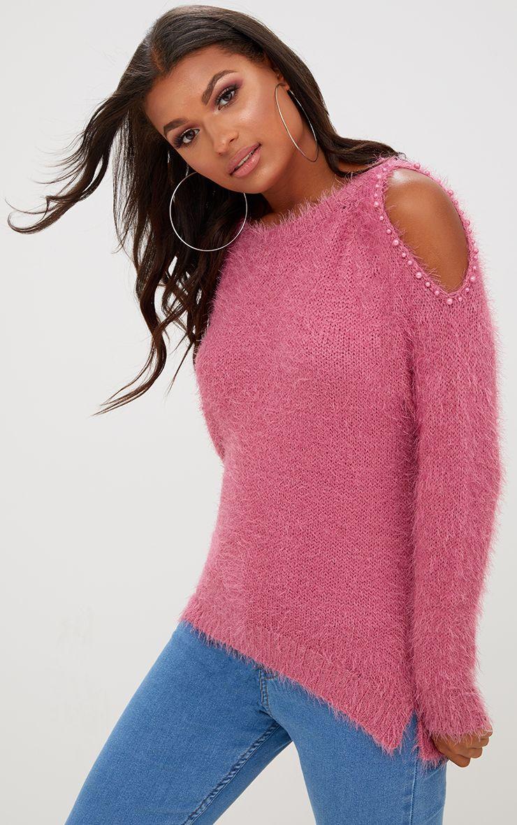 Rihanna Striped Side Split Knitted Maxi Dress Knitwear
