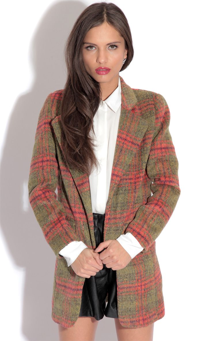 Joleen Green Check Jacket 1