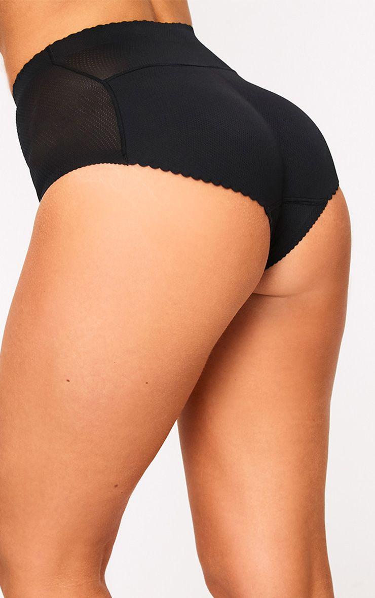 Black Shapewear Padded Control Pants