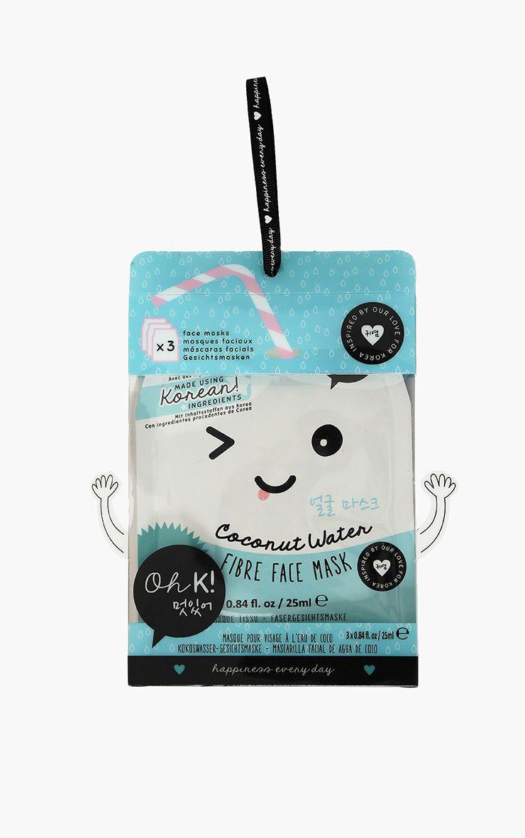 Oh K ! Pack de 3 masques faciaux en fibres eau de coco