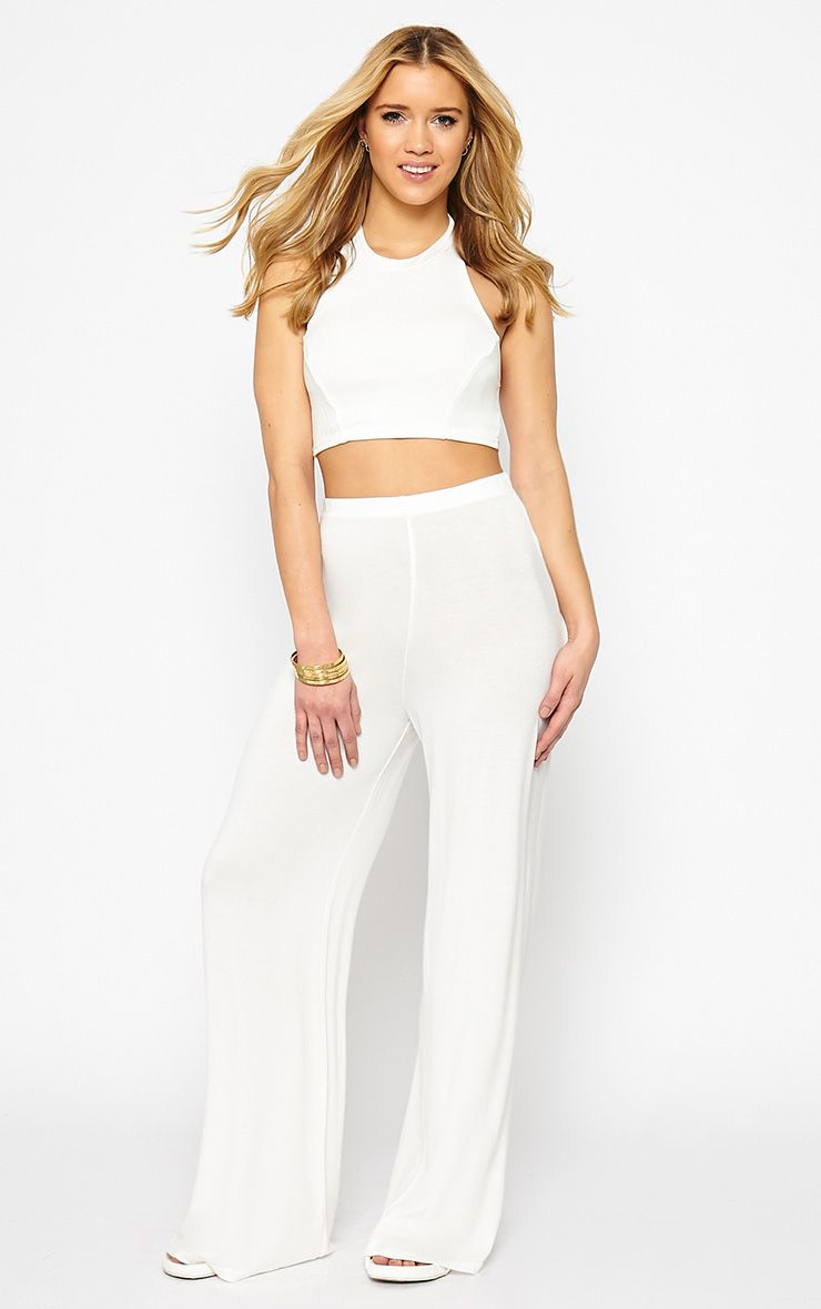 Radley Cream Wide Leg Trousers 1