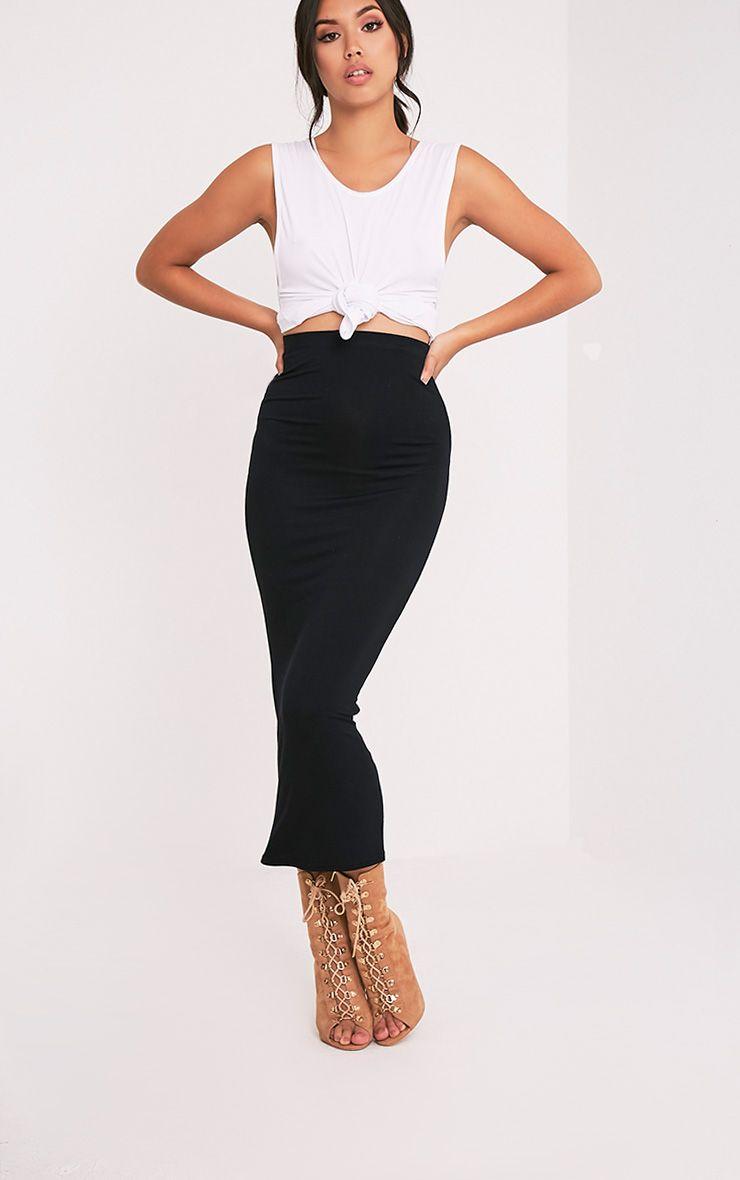 Basic Black Midaxi Skirt