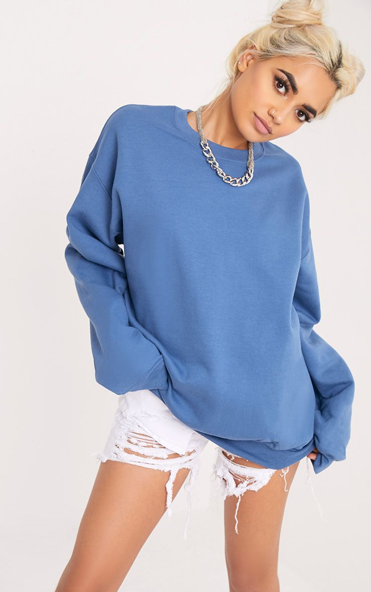 Ultimate Petrol Blue Crew Neck Sweater