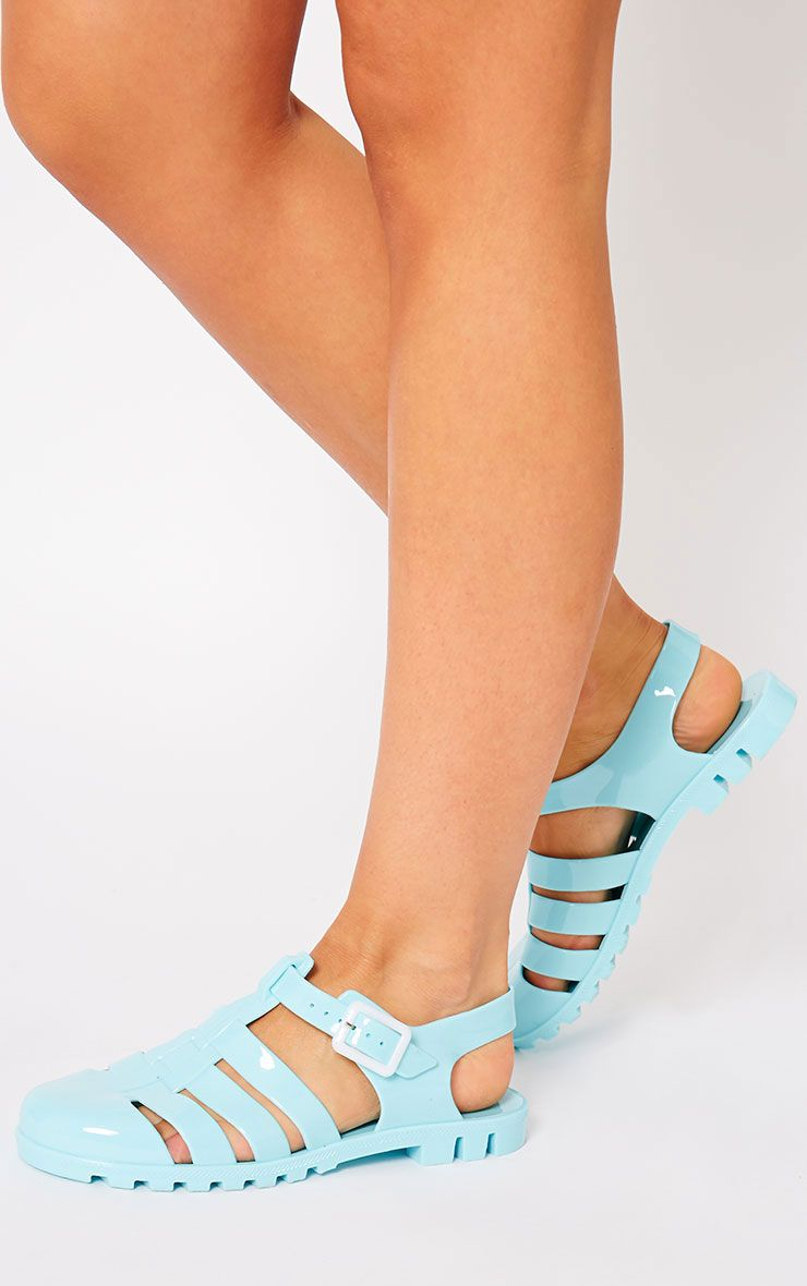 Raida Mint Flat Jelly Sandals 1