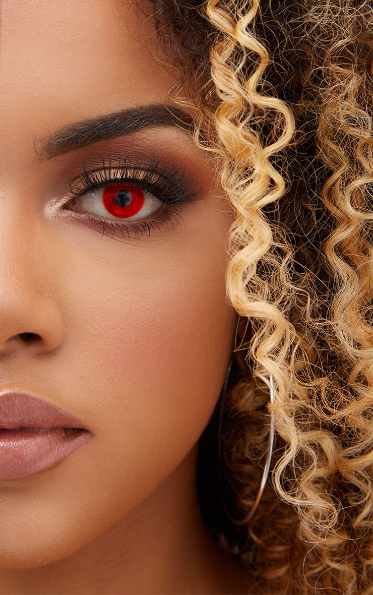 Halloween Red Devil Daily Contact Lenses