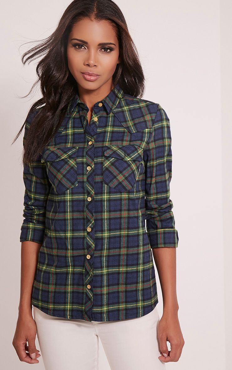 Rosanna Green Checked Shirt 1