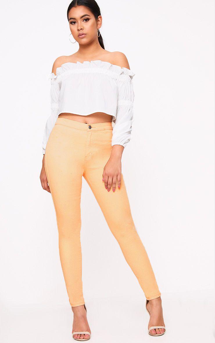 Orange Skinny Jean