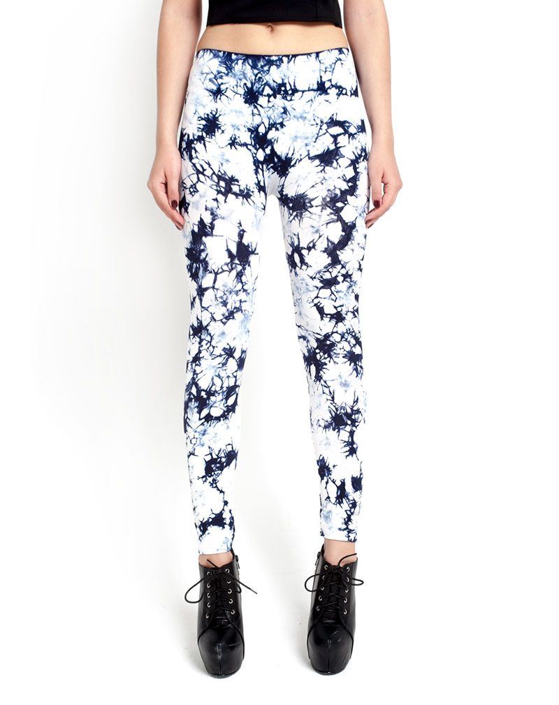 Tie Dye Blue Leggings-S/M 1