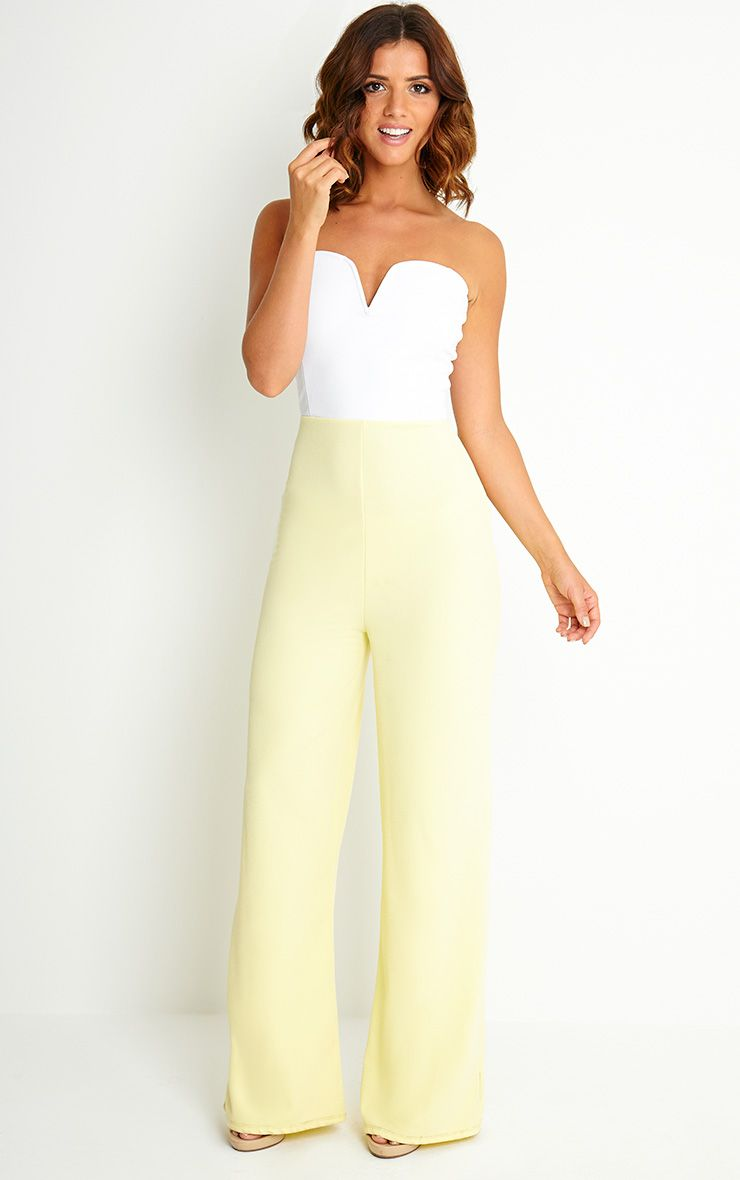 Kendra Two Tone Crepe Jumpsuit 1