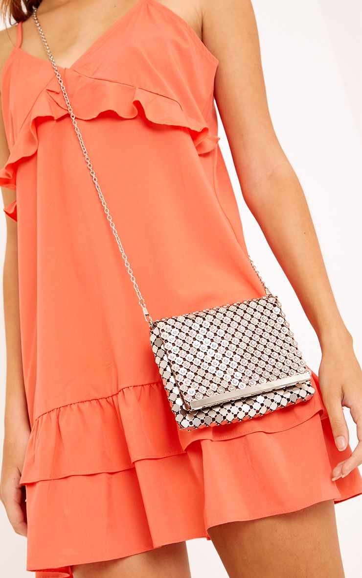 Jolee Coffee Chainmail Clutch