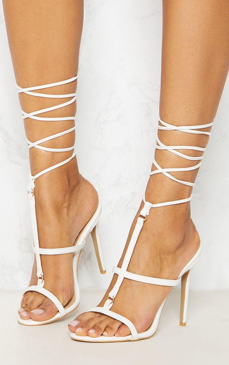 White Strappy Gladiator Sandal