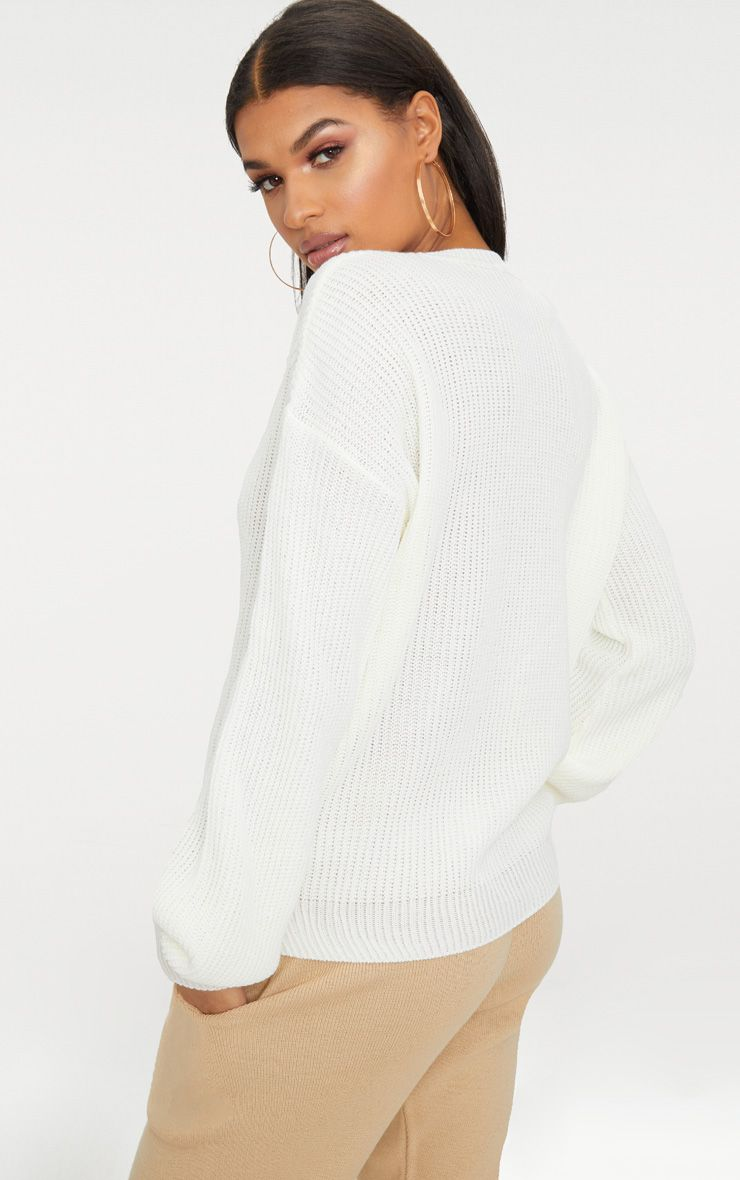Pre Order Online How Much Cream Oversized Balloon Sleeve Jumper Pretty Little Thing 37l1Yrac