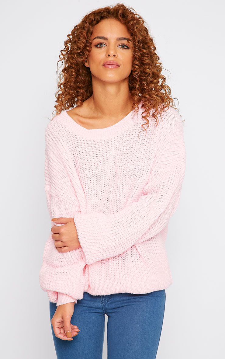 Delilah Pink Knitted Jumper 1