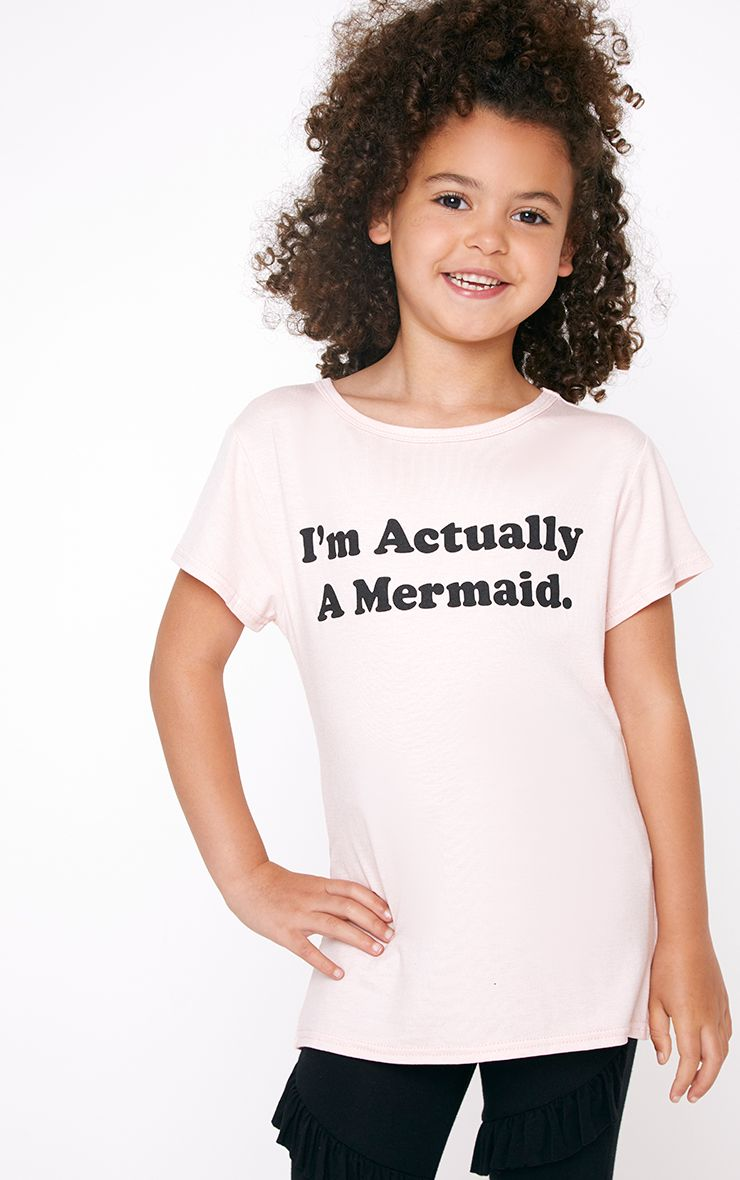 I'm Actually A Mermaid Pink T Shirt