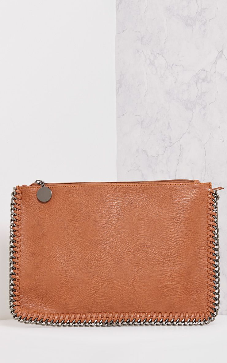 Wilfrie Tan Oversized Chain Detail Bag