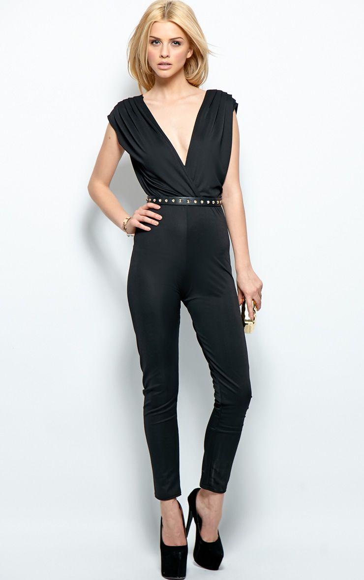 Alyssa Black Chiffon Jumpsuit  1
