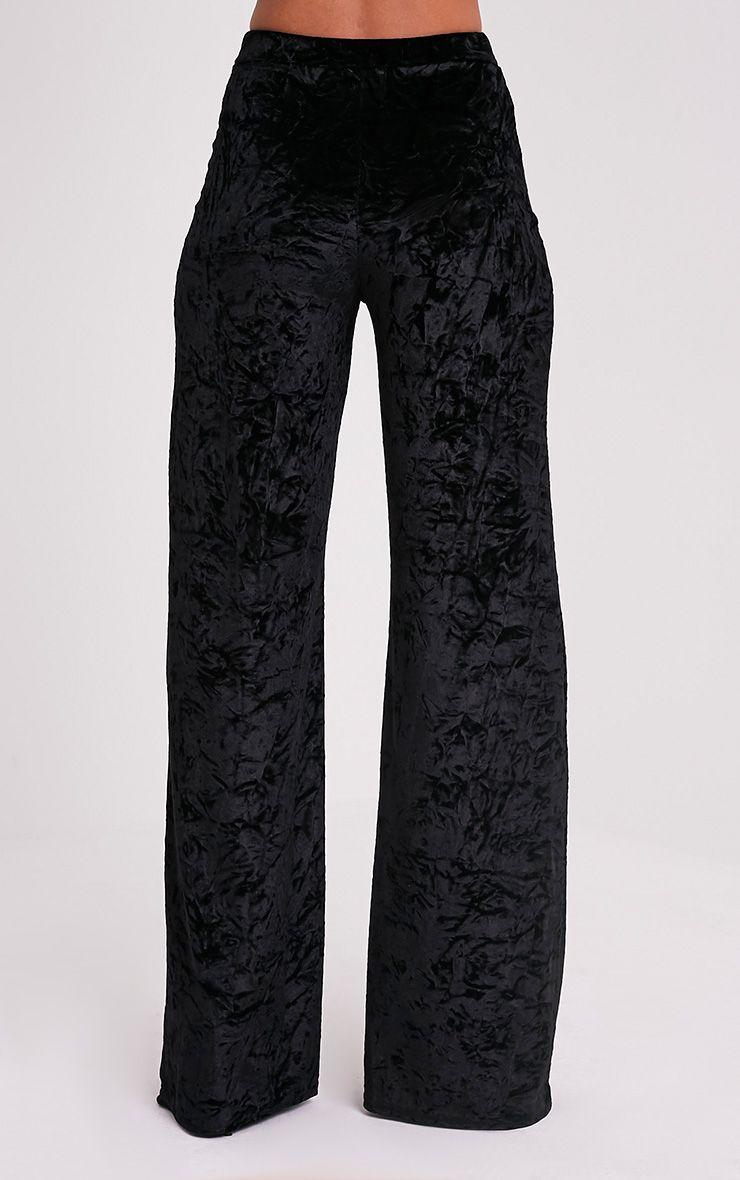 Jill Black Crushed Velvet Palazzo Trousers 5
