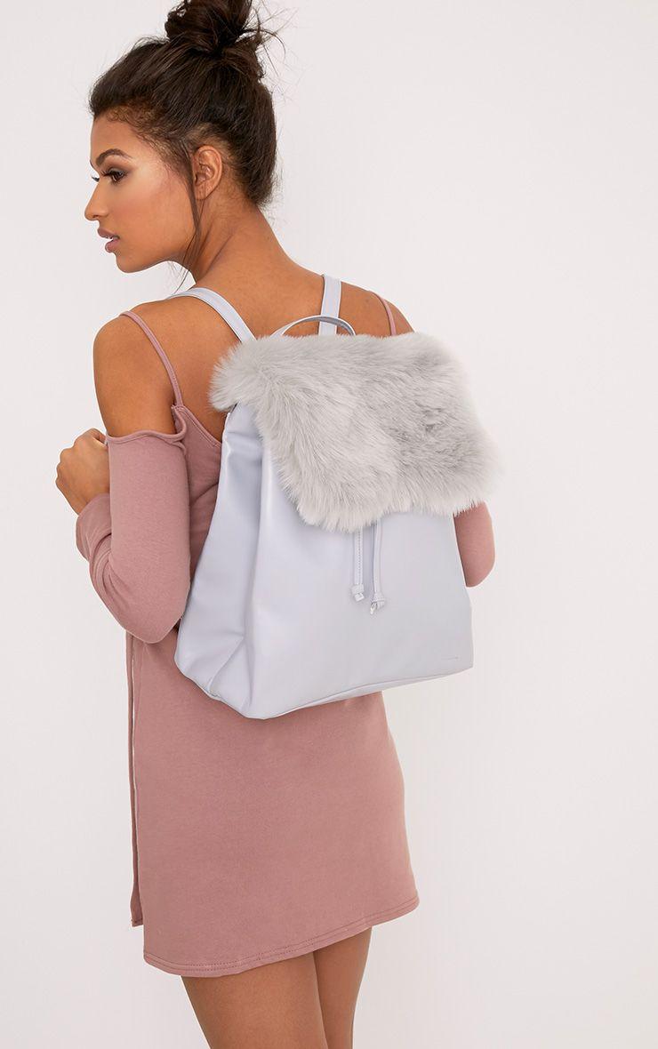 Balsa Grey Fur Panel Backpack