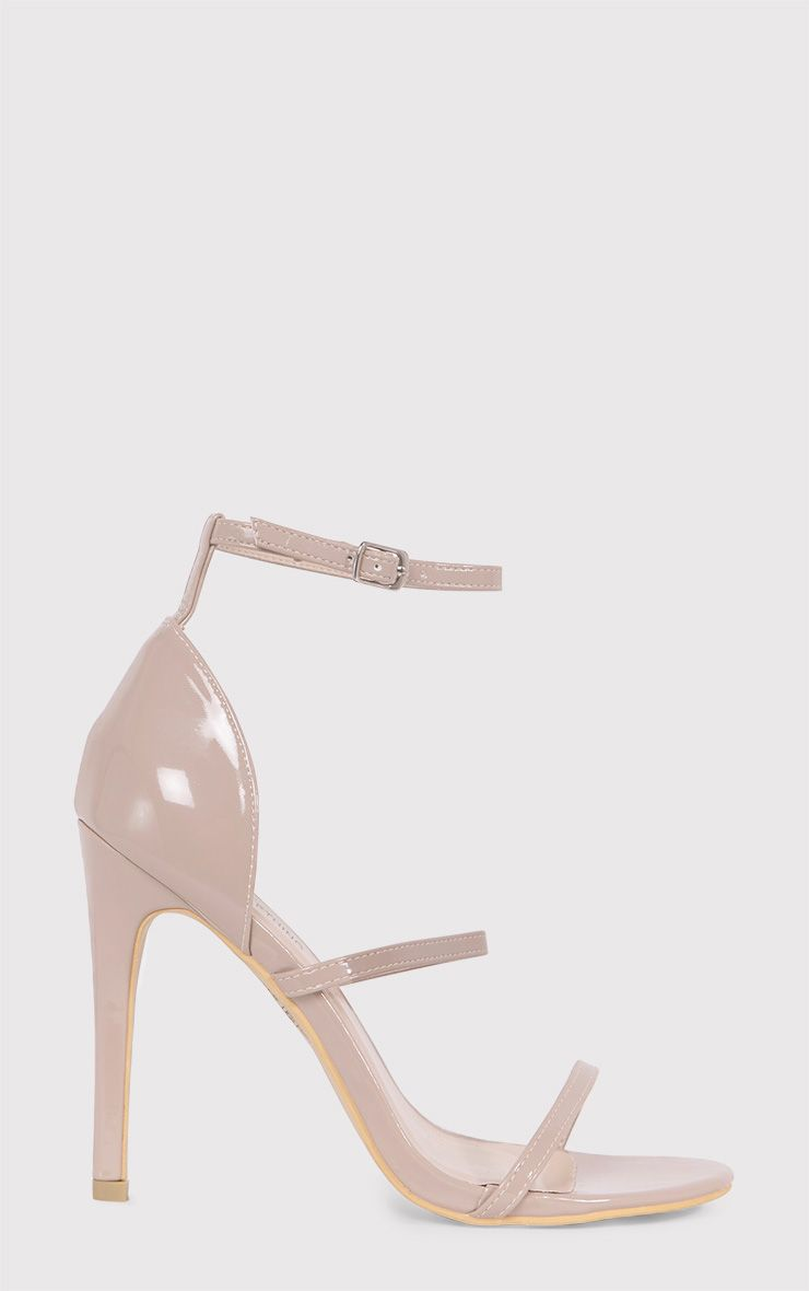Amelia Nude Patent Strappy Heeled Sandals