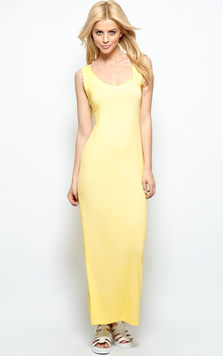 Yellow Sleeveless Maxi Dress 1