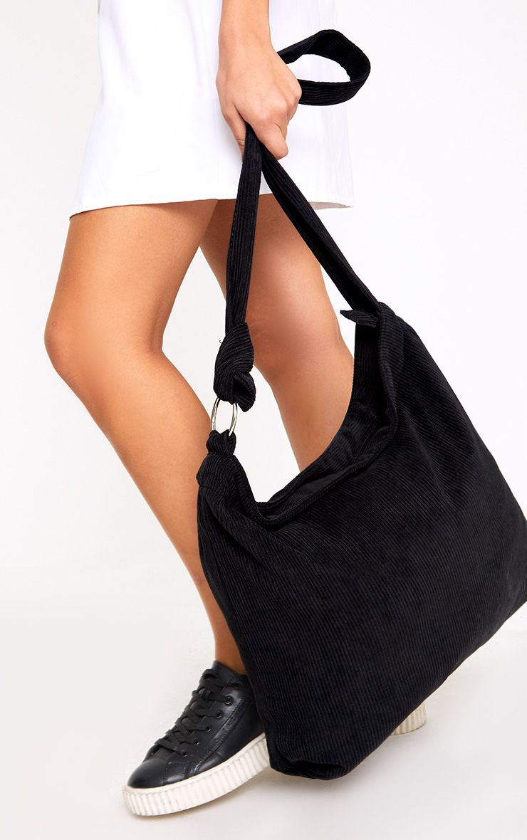 Black Cord Oversized Shopper