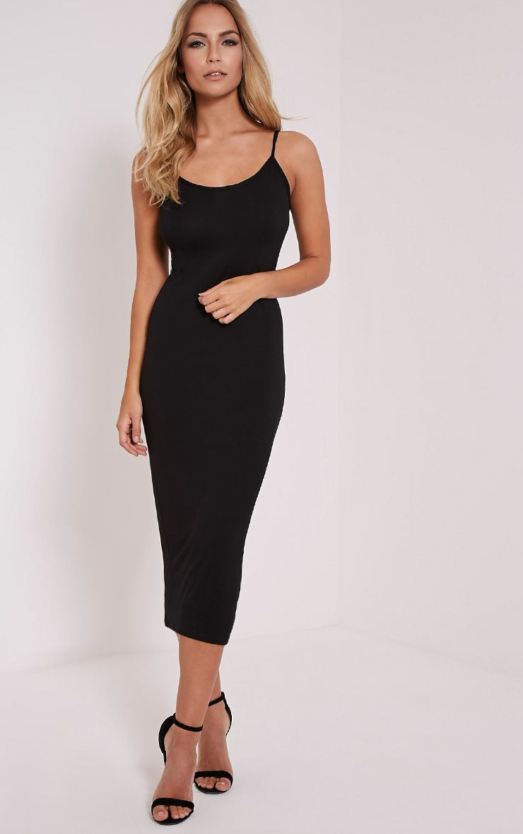 Basic Black Midi Vest Dress