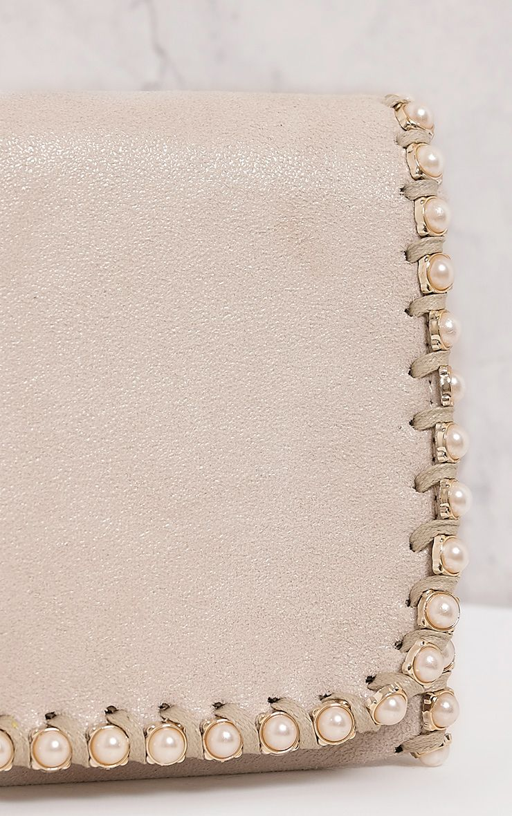 Seiena Cream Pearl Trim Clutch  4