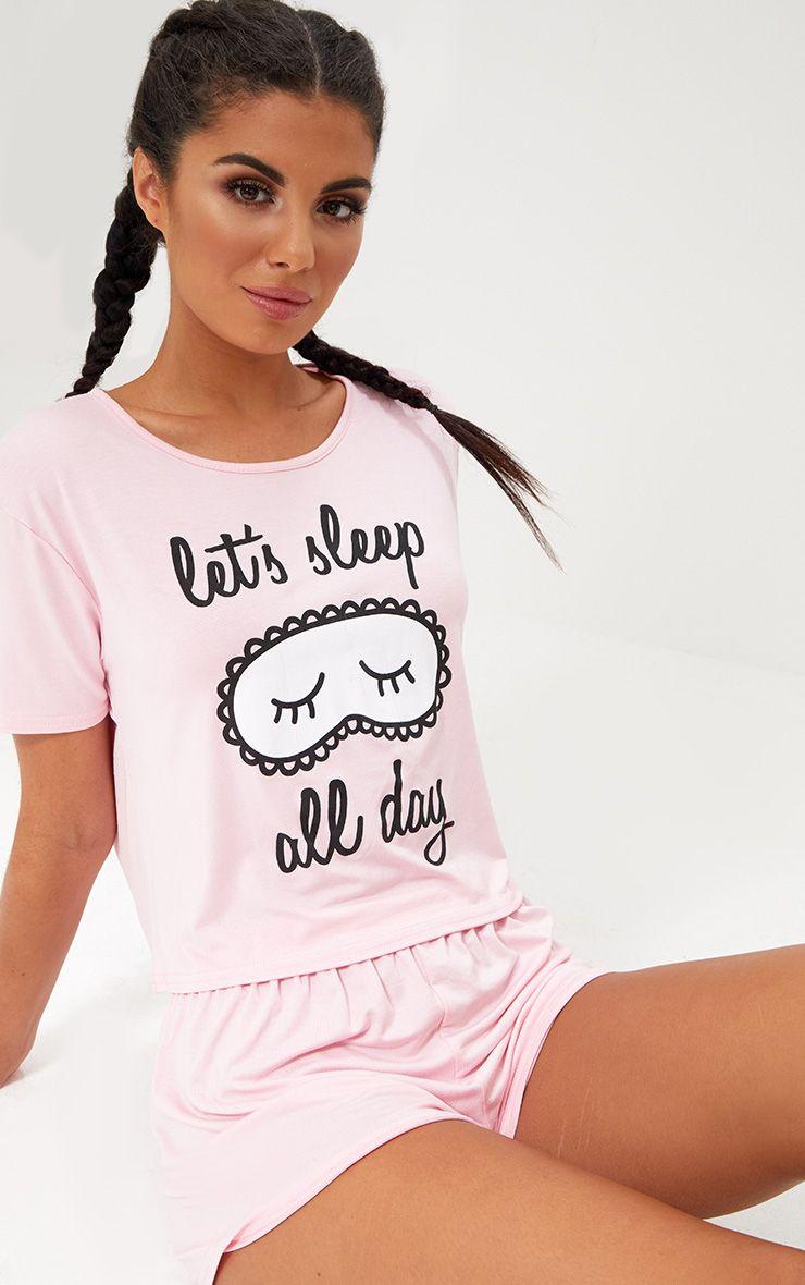 Baby Pink Sleep All Day PJ Set