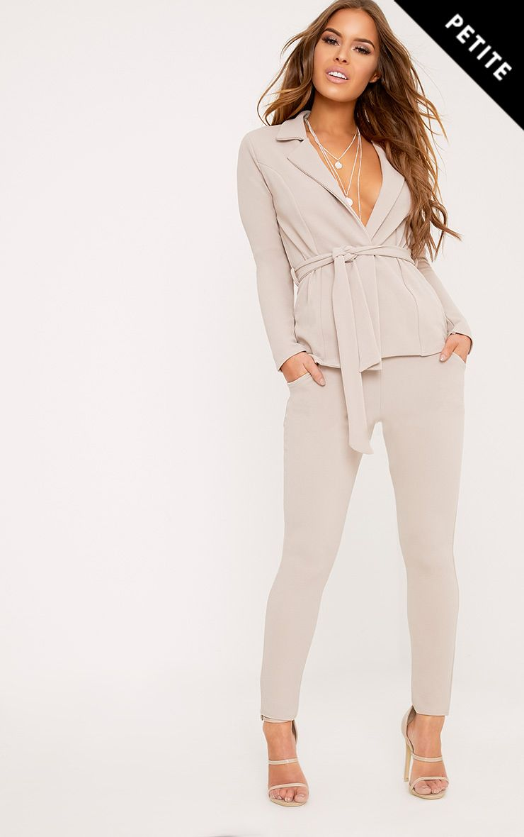 Petite Ashline Grey Cigarette Trousers