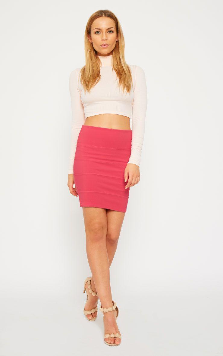 Anel Pink Bandage Mini Skirt  1