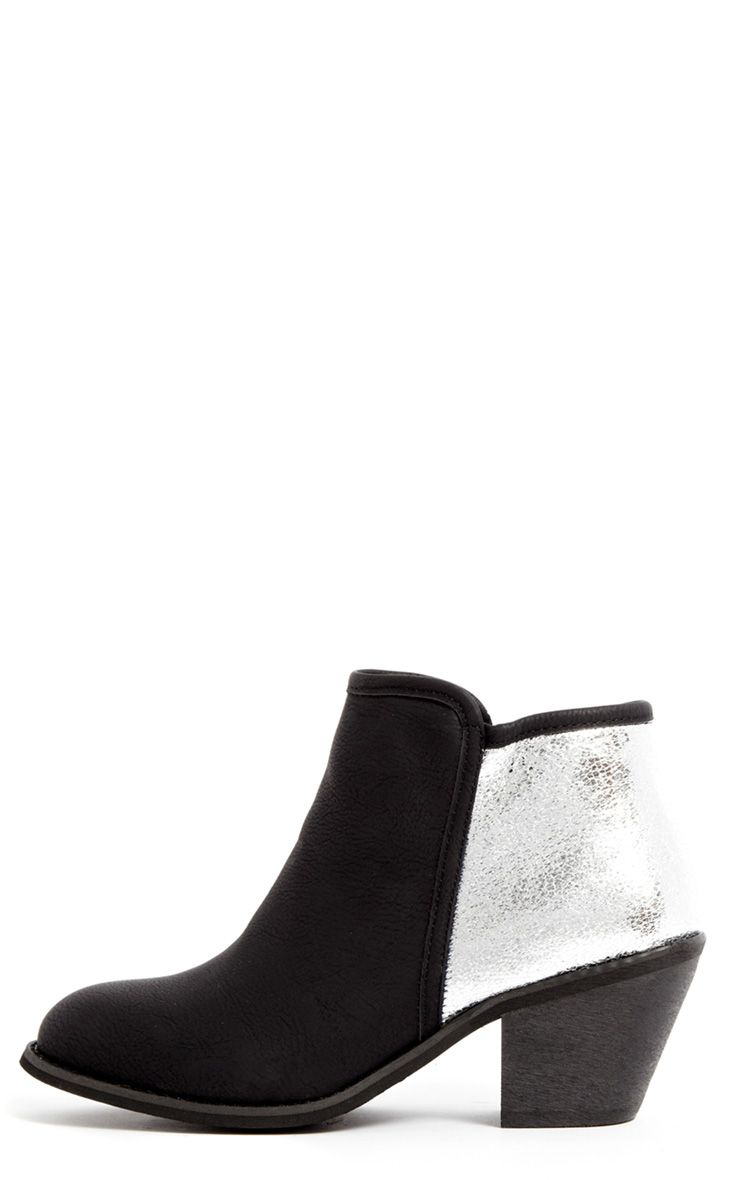Porchia Black Metalic Detail Ankle Boot  1