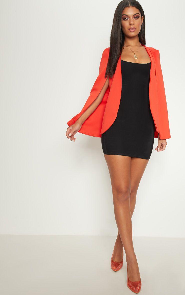 Orange Cape Blazer