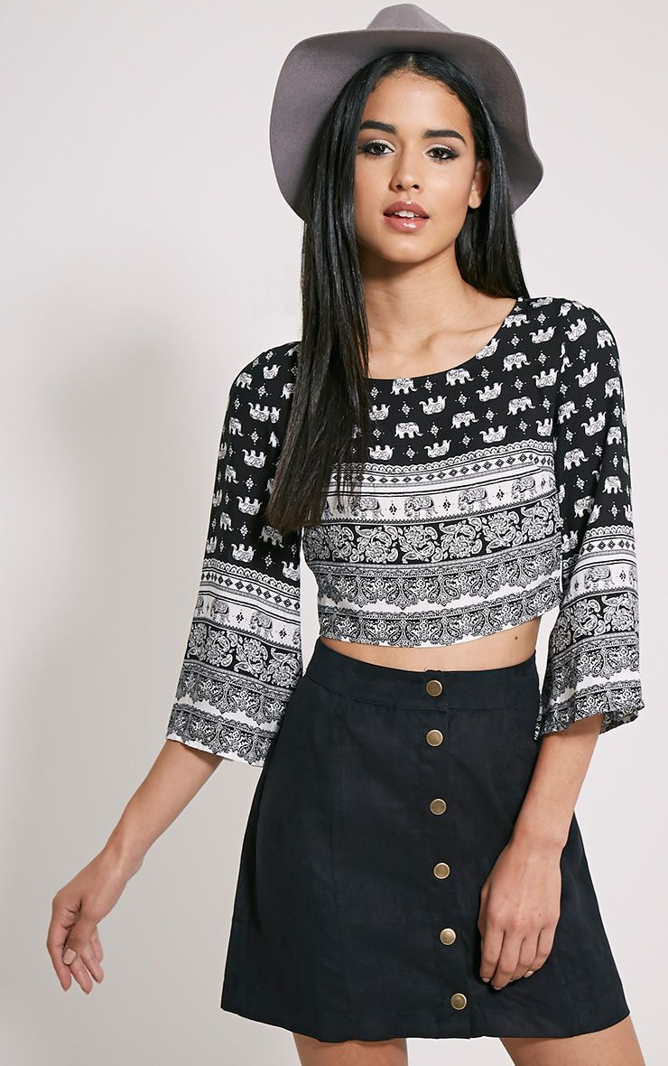 Ednas Multi Print Bell Sleeve Top 1