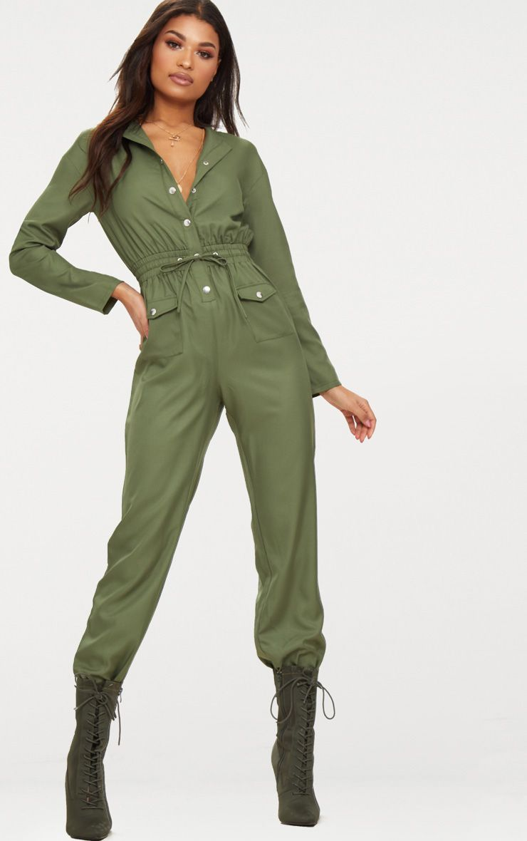 Feast your eyes on every khaki tone and style your mind can think of, from olive tones to every shade of khaki green on the color spectrum. Whether you are shopping for an on-trend culotte style, unitard jumpsuit for that off duty fix, evening get-up, wide leg or all-day casual style - .