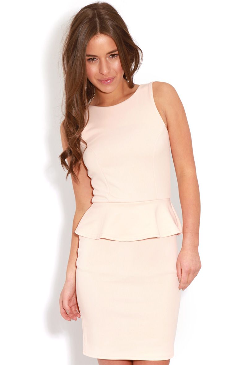 Rylie Peach Peplum Dress 1